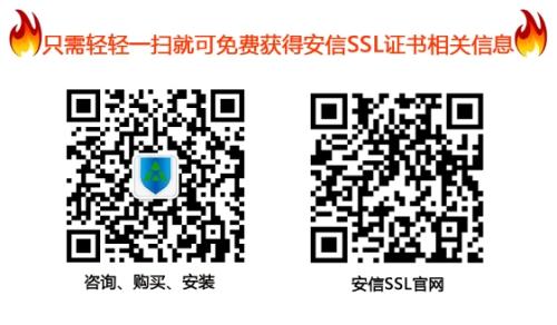安信SSL证书专业人员微信二维码