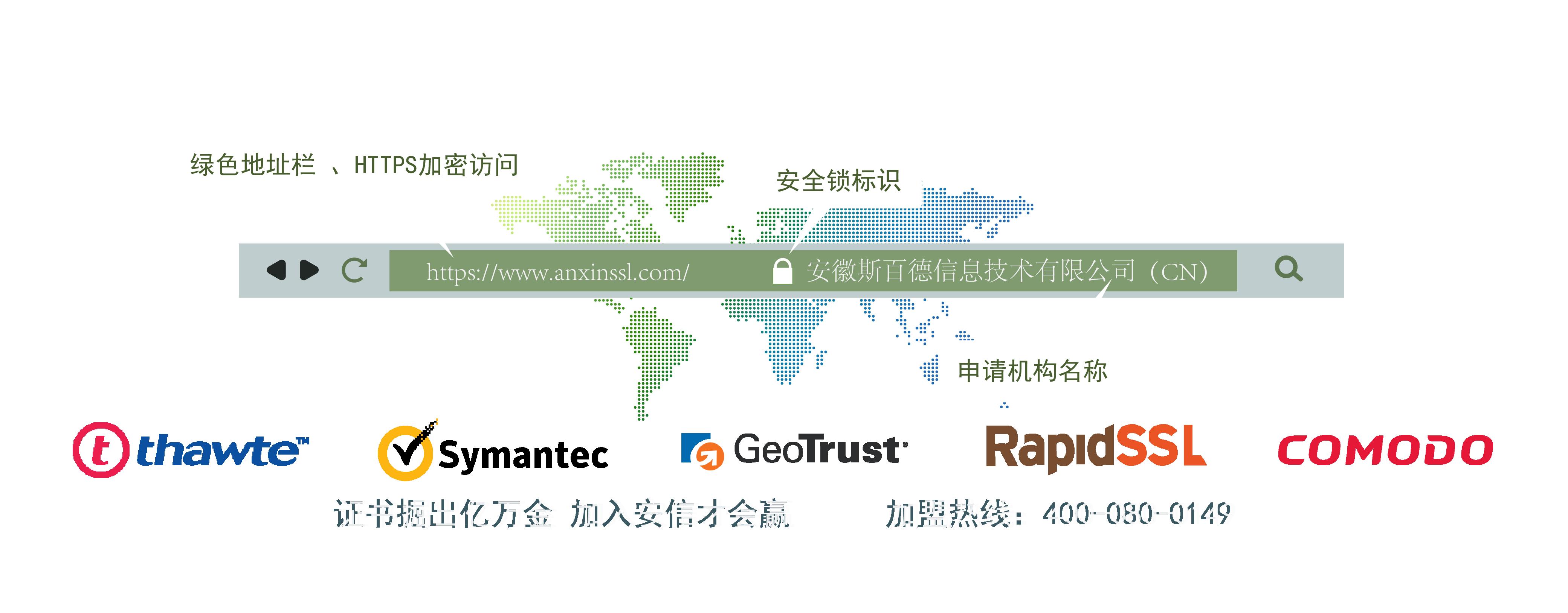 安信SSL证书代理页面banner