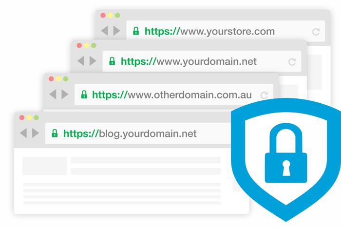 多域名SSL证书浏览器展现形式