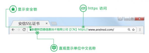 EV SSL证书展示