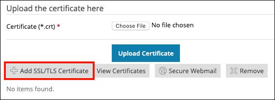 点击添加证书按钮